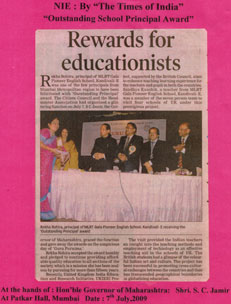 Educationist Rewarded