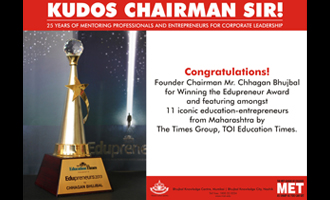 MET Chairman wins Edupreneur 2013