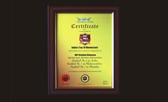 MRV No. 1  in Maharashtra and No. 6 All India