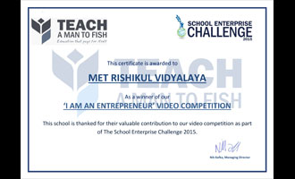 MRV wins Video Competition @ School Enterprise Challenge