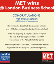 MET Wins @ London Business School