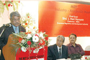 Chairman - IRDA at MET
