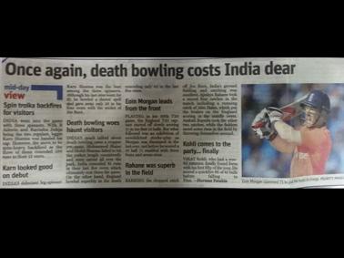 Student Journalist Reports an <br> International Cricket Match!