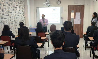 MRV AS level Students interact with Professor Atanu Ghoshray [Newcastle Business School U. K]