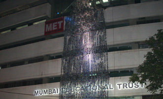 Bandra gets 120 ft high waterfall