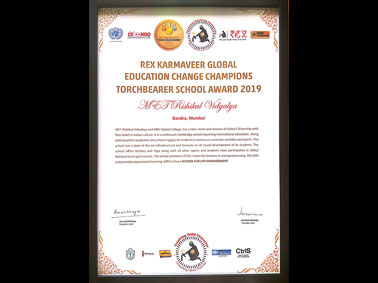 The Rex Karmaveer Global Education Change Champions Torchbearer School Award 2019