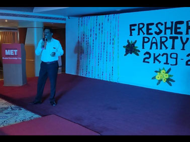 Freshers\'  party for F.Y.D.Pharm
